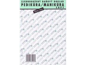 PEDIKÚRA-MANIKÚRA Zjednodušený daňový doklad - propisovací blok 50x2listy