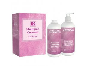 BRAZIL KERATIN Shampoo Coco čistící a hloubkově regenerující keratinový šampon 2x550ml