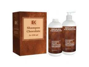BRAZIL KERATIN Shampoo Chocolate hloubkově regenerující keratinový šampon 2x550ml