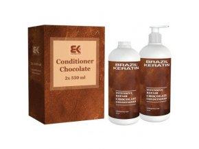 BRAZIL KERATIN Conditioner Chocolate hloubkově regenerující balzám s keratinem 2x550ml
