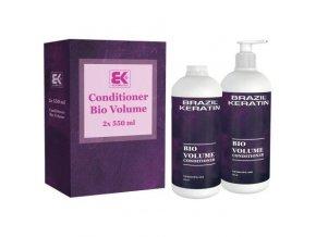 BRAZIL KERATIN Bio Conditioner Volume balzám pro větší objem vlasů s keratinem 2x550ml