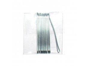 DUKO Sponky na vlasy 4cm - stříbrné