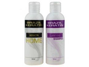 BRAZIL KERATIN Home Set - Keratin 150ml + Clarifying šampon 150ml - pro domácí použití