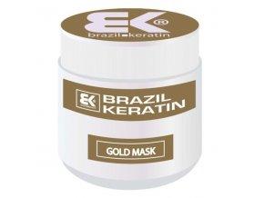 BRAZIL KERATIN Gold Mask regenerační keratinová maska na vlasy s přídavkem zlata 500ml