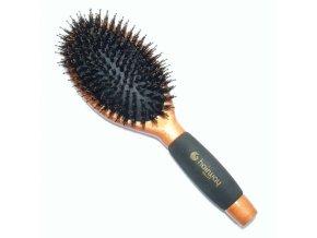 HAIRWAY 8177 Oválný dřevěný kartáč s kančími štětinami na prodloužené vlasy