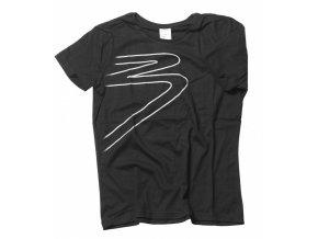 BLACK Pomůcky Černé triko s potiskem B (logo Black) - velikost L