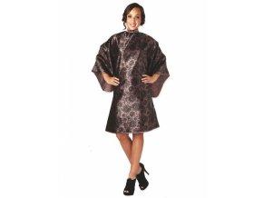 OLIVIA GARDEN Lace Cape Taupe luxusní kadeřnická pláštěnka - hnědo-zlatá