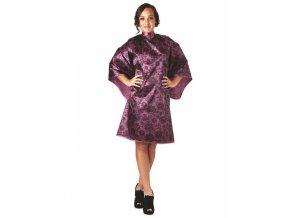 OLIVIA GARDEN Lace Cape Plum luxusní kadeřnická pláštěnka - švestková