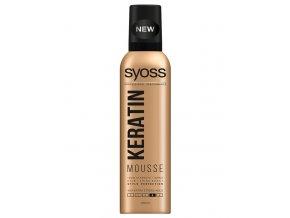 SYOSS Professional KERATIN Mousse pěnové tužidlo - extra silná pružná fixace vlasů 250ml