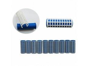 DUKO Natáčky 2420 Varné natáčky na vlasy 22x65mm modrobílé 10ks - střední