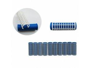 DUKO Natáčky 2430 Varné natáčky na vlasy 18x63mm modrobílé 10ks - malé