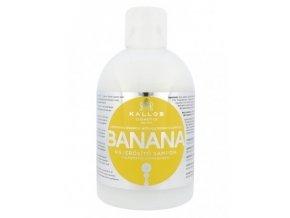 KALLOS KJMN Banana Shampoo 1000ml - šampon na suché vlasy s multivitamíny