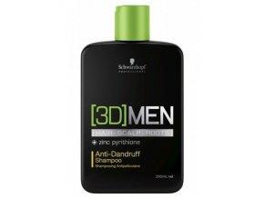 Schwarzkopf 3D MEN Anti-Dandruff Shampoo 250ml - pánský šampon pro proti lupům