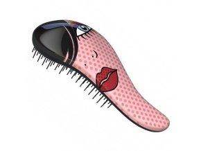 DTANGLER Red Lip Profesionální rozčesávací kartáč na vlasy s rukojetí