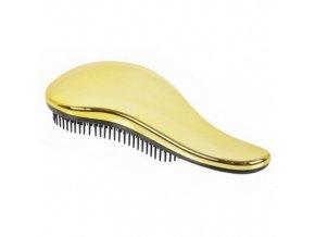 DTANGLER Gold Rozčesávací kartáč na vlasy s rukojetí - zlatý