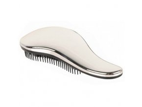 DTANGLER Silver Rozčesávací kartáč na vlasy s rukojetí - stříbrný