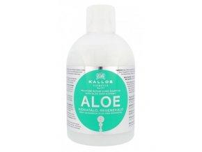 KALLOS KJMN Aloe Shampoo 1000ml - hydratační šampon s Aloe Vera na suché vlasy