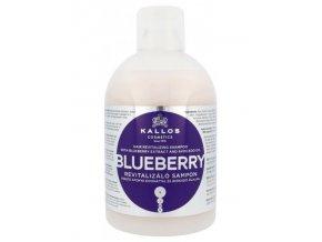 KALLOS KJMN Blueberry Shampoo 1000ml - šampon na chemicky poškozené vlasy