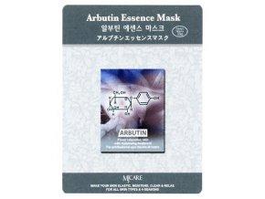 MJ CARE Arbutin Pleťová maska proti pihám a nerovnoměrnému zabarvení pleti