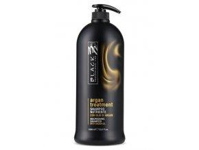BLACK Argan Treatment Shampoo 1000ml - arganový regenerační šampon na poškozené vlasy