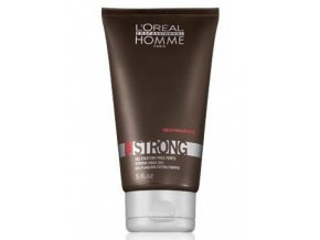 LOREAL Homme Strong Gel 150ml - extra silně tužící gel na vlasy