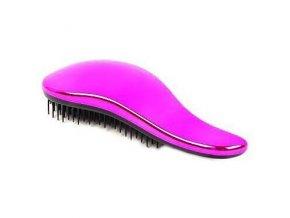 DTANGLER Fuxie Profesionální rozčesávací kartáč na vlasy s rukojetí - leský růžový