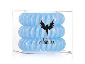 HH SIMONSEN Hair Cuddles Light Blue 3ks - spirálové gumičky do vlasů - světle modré