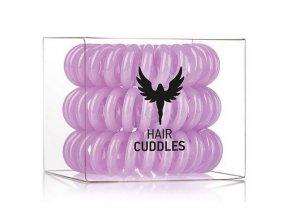 HH SIMONSEN Hair Cuddles Purple 3ks - spirálové gumičky do vlasů - světle fialové