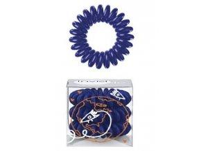 INVISIBOBBLE Hair Ring Universal Blue 3ks - Spirálová gumička do vlasů - tmavě modrá