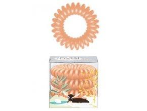 INVISIBOBBLE Hair Ring Silky Season 3ks - Spirálová gumička do vlasů - meruňková