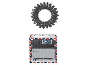 INVISIBOBBLE Hair Ring Letter from Grey 3ks - Spirálová gumička do vlasů - šedá