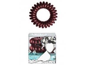 INVISIBOBBLE Hair Ring Burgundy Dream 3ks - Spirálová gumička do vlasů - hnědá bordó