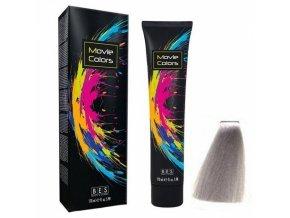 BES Movie Colors Silver - gelová barva na vlasy bez amoniaku 170ml - stříbrná