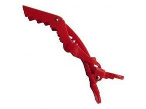 DUKO Pomůcky Crocodile Hair Clips Red - plastová spona na vlasy 11,5cm - červená