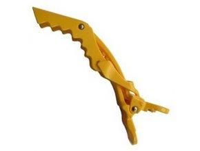 DUKO Pomůcky Crocodile Hair Clips Yellow - plastová spona na vlasy 11,5cm - žlutá