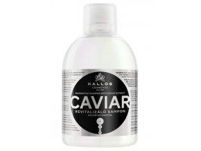 KALLOS KJMN Caviar Shampoo 1000ml - regenerační šampon na poškozené vlasy