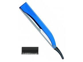 KIEPE Professional Pro Cut BLUE kadeřnická břitva s efilačním nástavcem - modrá
