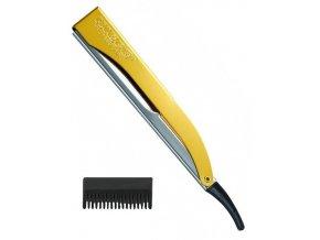 KIEPE Professional Pro Cut YELLOW kadeřnická břitva s efilačním nástavcem - žlutá