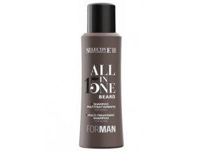 SELECTIVE For Man 15v1 BEARD All In One Shampoo 100ml - šampon pro víceúčelové ošetření vousů
