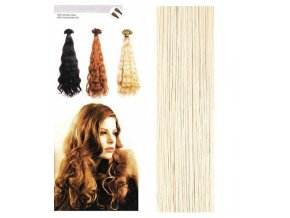 SO.CAP. Vlnité vlasy Přírodní odstín 8002M 55-60cm - platinum blonde ash 1000