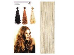 SO.CAP. Vlnité vlasy Přírodní odstín 8003MC 35-40cm - extra light blonde ash 516