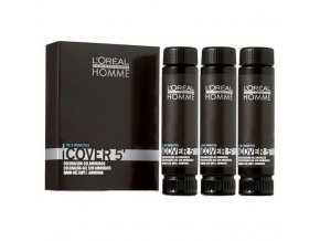 LOREAL Homme COVER 5 barva pro muže na zakrytí šedin 3x50ml - 3 tmavá hnědá