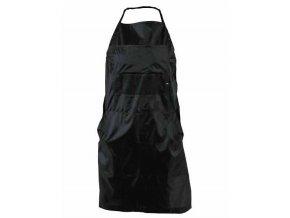 DUKO Pracovní kadeřnická zástěra 68x88cm z polyesteru - černá