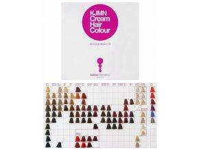 KALLOS KJMN Vzorník barev na vlasy Kallos Cream Hair Colour s keratinem a arganovým olejem