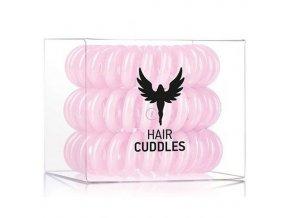 HH SIMONSEN Hair Cuddles Light Pink 3ks - spirálové gumičky do vlasů - světle růžové