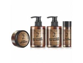 RENEÉ BLANCHE Linea Barba Set - sada péče o vousy (šampon, balzám, vosk a olej)