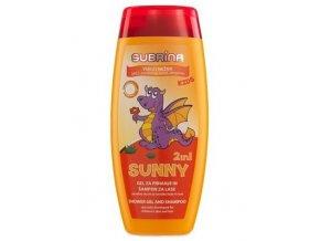 SUBRÍNA For Kids Sunny 2v1 250ml - dětský sprchový gel a šampon 2v1