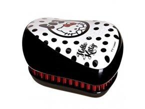 TANGLE TEEZER Compact Hallo Kitty Black - kartáč na rozčesávání vlasů - černo bílý