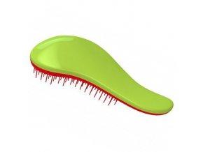 DTANGLER Green-Red Profesionální kartáč s rukojetí na rozčesání vlasů - zeleno červený