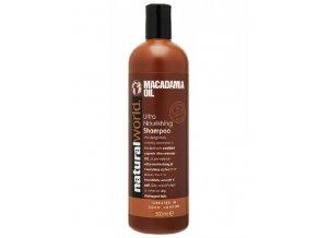NATURAL WORLD MACADAMIA Oil Shampoo 500ml - hydratační vlasový šampon